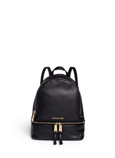 Michael Kors 'Rhea' small 18k gold plated leather backpack