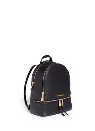 Figure View - Click To Enlarge - Michael Kors - 'Rhea' small 18k gold plated leather backpack