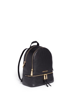 Michael Kors'Rhea' small 18k gold plated leather backpack