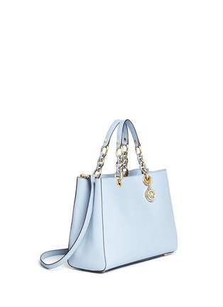 Front View - Click To Enlarge - Michael Kors - 'Cynthia' large saffiano leather satchel
