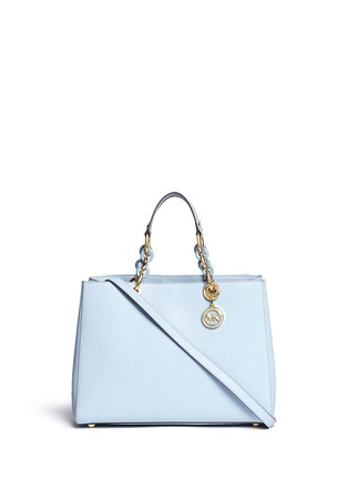 Main View - Click To Enlarge - Michael Kors - 'Cynthia' large saffiano leather satchel