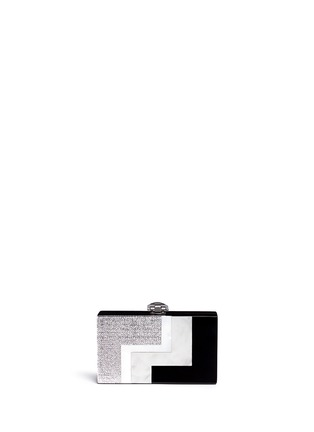 Back View - Click To Enlarge - RAFÉ - Alicia lucite metallic box clutch