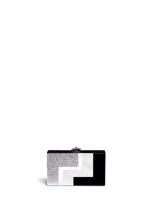 Main View - Click To Enlarge - RAFÉ - Alicia lucite metallic box clutch
