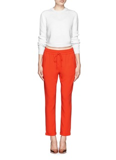 STELLA MCCARTNEY Taylor stretch cady jogging pants