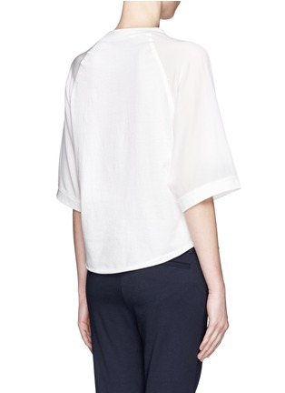 Back View - Click To Enlarge - 3.1 Phillip Lim - Silk sleeve jersey baseball T-shirt