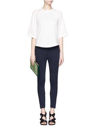 Figure View - Click To Enlarge - 3.1 Phillip Lim - Silk sleeve jersey baseball T-shirt