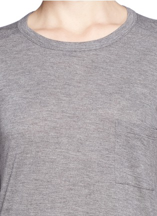 Detail View - Click To Enlarge - T By Alexander Wang - Classic pocket long-sleeve T-shirt