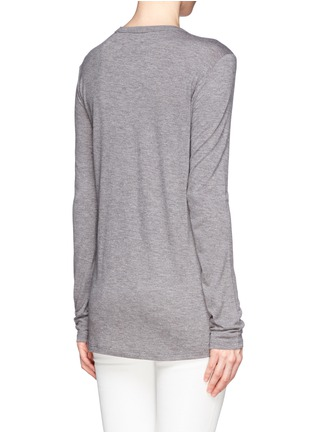 Back View - Click To Enlarge - T By Alexander Wang - Classic pocket long-sleeve T-shirt