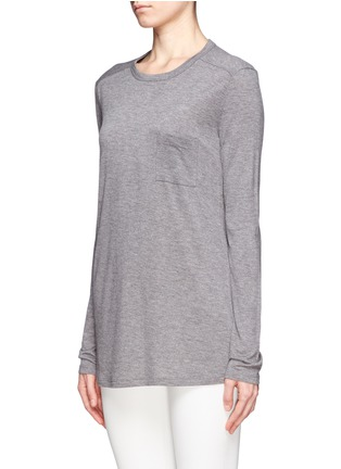 Front View - Click To Enlarge - T By Alexander Wang - Classic pocket long-sleeve T-shirt