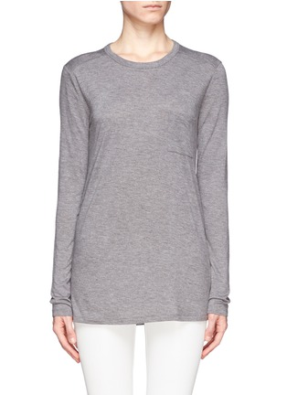 Main View - Click To Enlarge - T By Alexander Wang - Classic pocket long-sleeve T-shirt