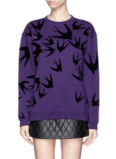 MCQ ALEXANDER MCQUEENSwallow velvet flock sweatshirt