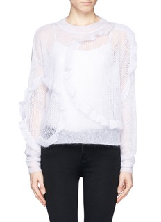 CHLOÉ Ruffle eyelet knit sweater