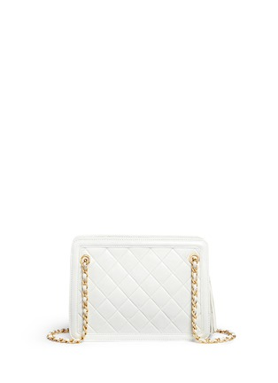 Back View - Click To Enlarge - Vintage Chanel - Tassel charm quilted leather bag