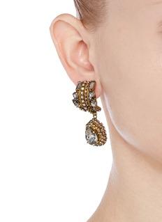 ERICKSON BEAMON'Damsel' teardrop crystal earrings