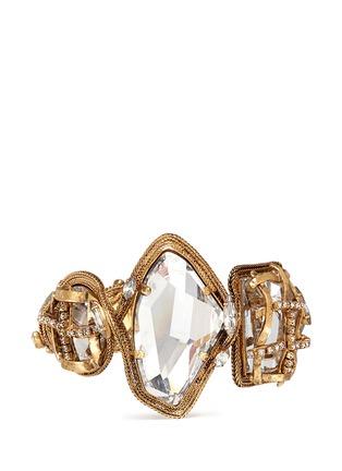 Main View - Click To Enlarge - Erickson Beamon - 'Heart of Gold' gauze bound crystal bracelet
