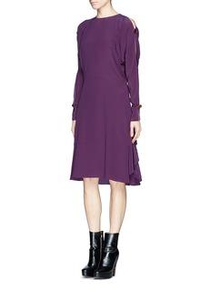 CHLOÉSplit button sleeve silk dress