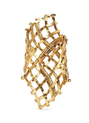 Back View - Click To Enlarge - Erickson Beamon - 'Heart of Gold' gauzy crystal cuff