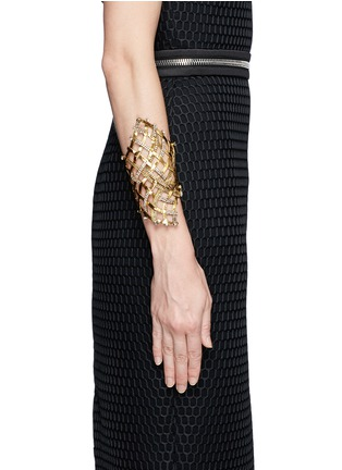 Figure View - Click To Enlarge - Erickson Beamon - 'Heart of Gold' gauzy crystal cuff