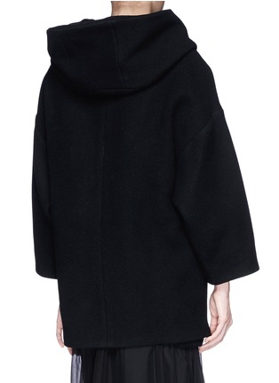 Back View - Click To Enlarge - Chloé - Oversized wool blend hood coat
