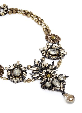Detail View - Click To Enlarge - Erickson Beamon - 'Golden Rule' crystal necklace