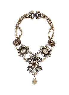 ERICKSON BEAMON'Golden Rule' crystal necklace