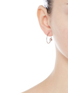 Maria Black 'Orion Medi' pierced hoop sterling silver earrings