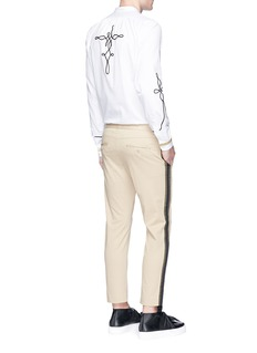 Ports 1961 Corded appliqué cotton twill shirt