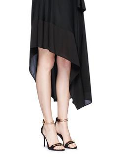 Stella Luna'Stella' turnlock bar ankle strap suede sandals