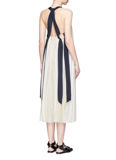 3.1 Phillip Lim Silk satin strap sunburst pleated dress