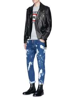 Dsquared2 'UNITED TWINS' print distressed T-shirt