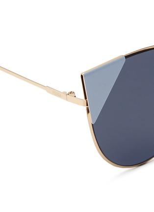 Detail View - Click To Enlarge - Fendi - 'Lei' flat metal cat eye sunglasses