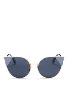 Fendi 'Lei' flat metal cat eye sunglasses