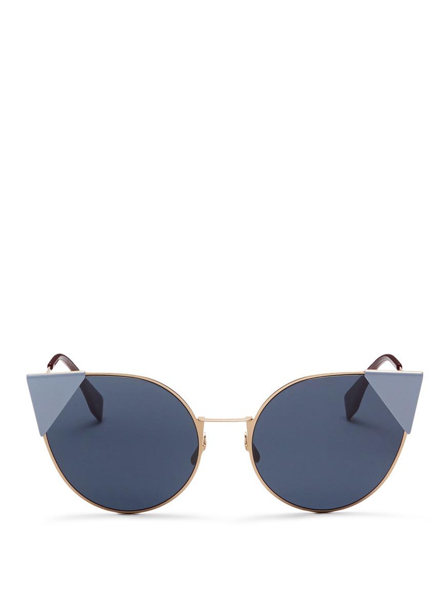 Lei flat metal cat eye sunglasses by Fendi