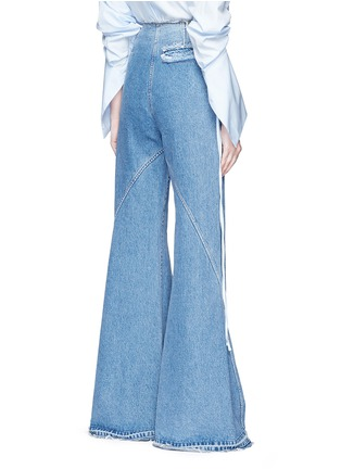 Back View - Click To Enlarge - Esteban Cortazar - High waist flared denim pants