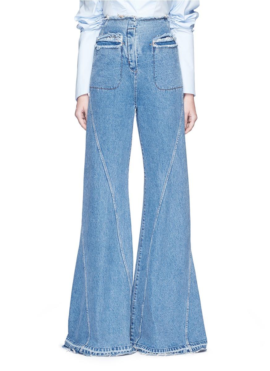 High waist flared denim pants by Esteban Cortazar
