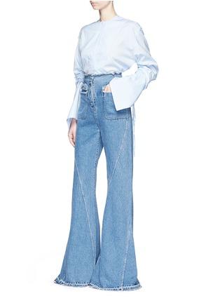 Figure View - Click To Enlarge - Esteban Cortazar - High waist flared denim pants