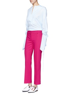 Cédric Charlier Virgin wool cropped pants