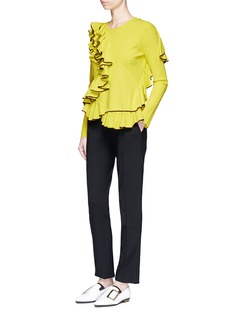 Cédric Charlier Cascading ruffle sweater