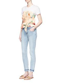 Johanna Ortiz'Dominica' embellished floral strapless top with obi belt