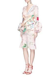 Johanna Ortiz'Vittoria' embellished floral eyelet lace dress