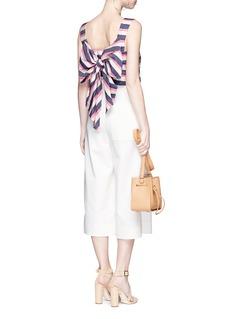 Johanna Ortiz'Vizcaya' stripe bow back silk shantung top