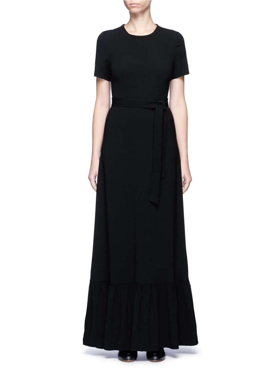 Flounce hem crepe maxi dress by Co