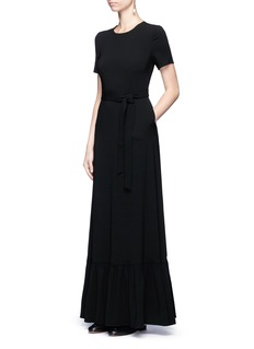 Co Flounce hem crepe maxi dress