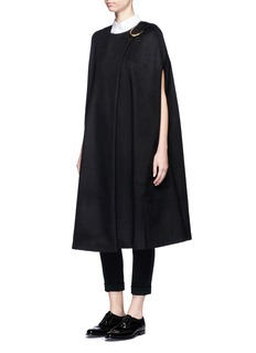 Co Oversized buckle virgin wool cape
