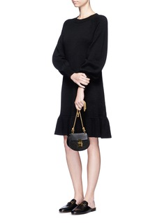 Co Bishop sleeve wool-cashmere knit dress