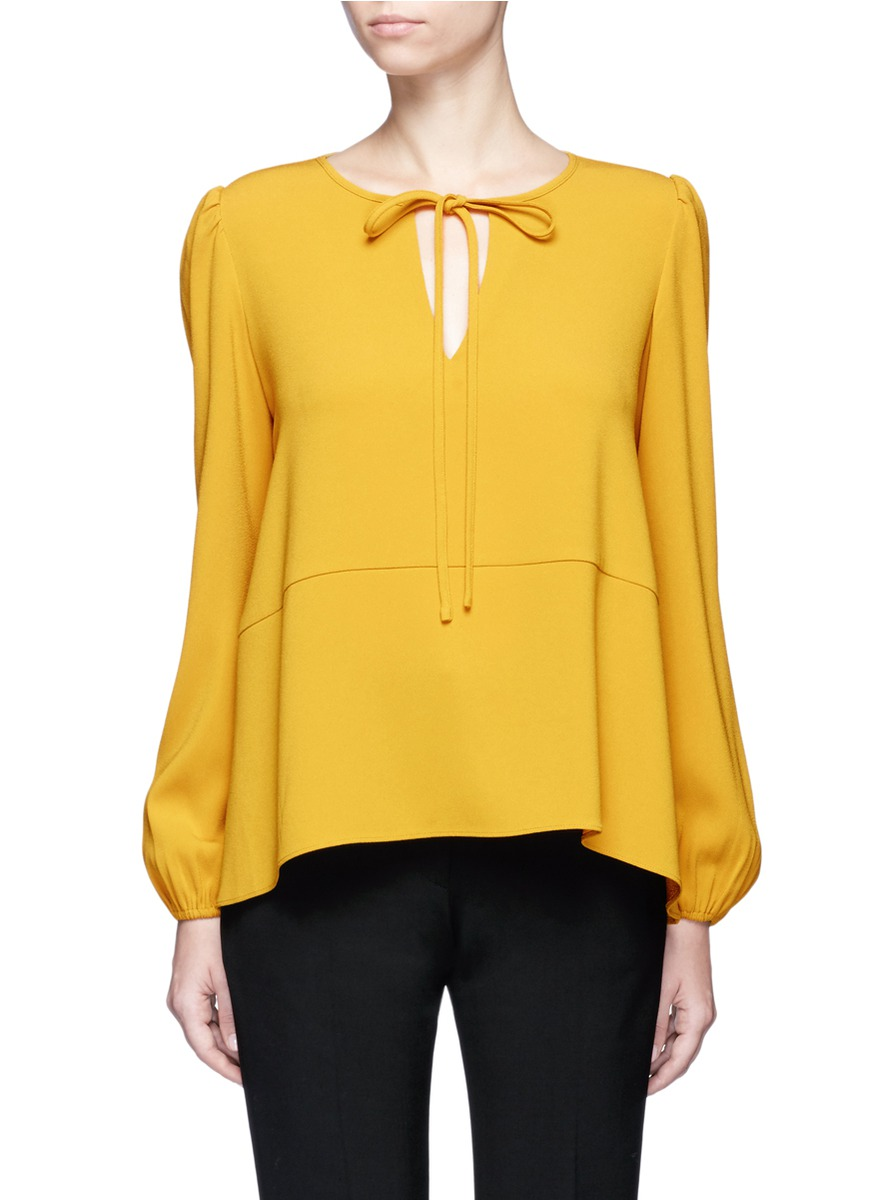 Keyhole front crepe blouse by Co