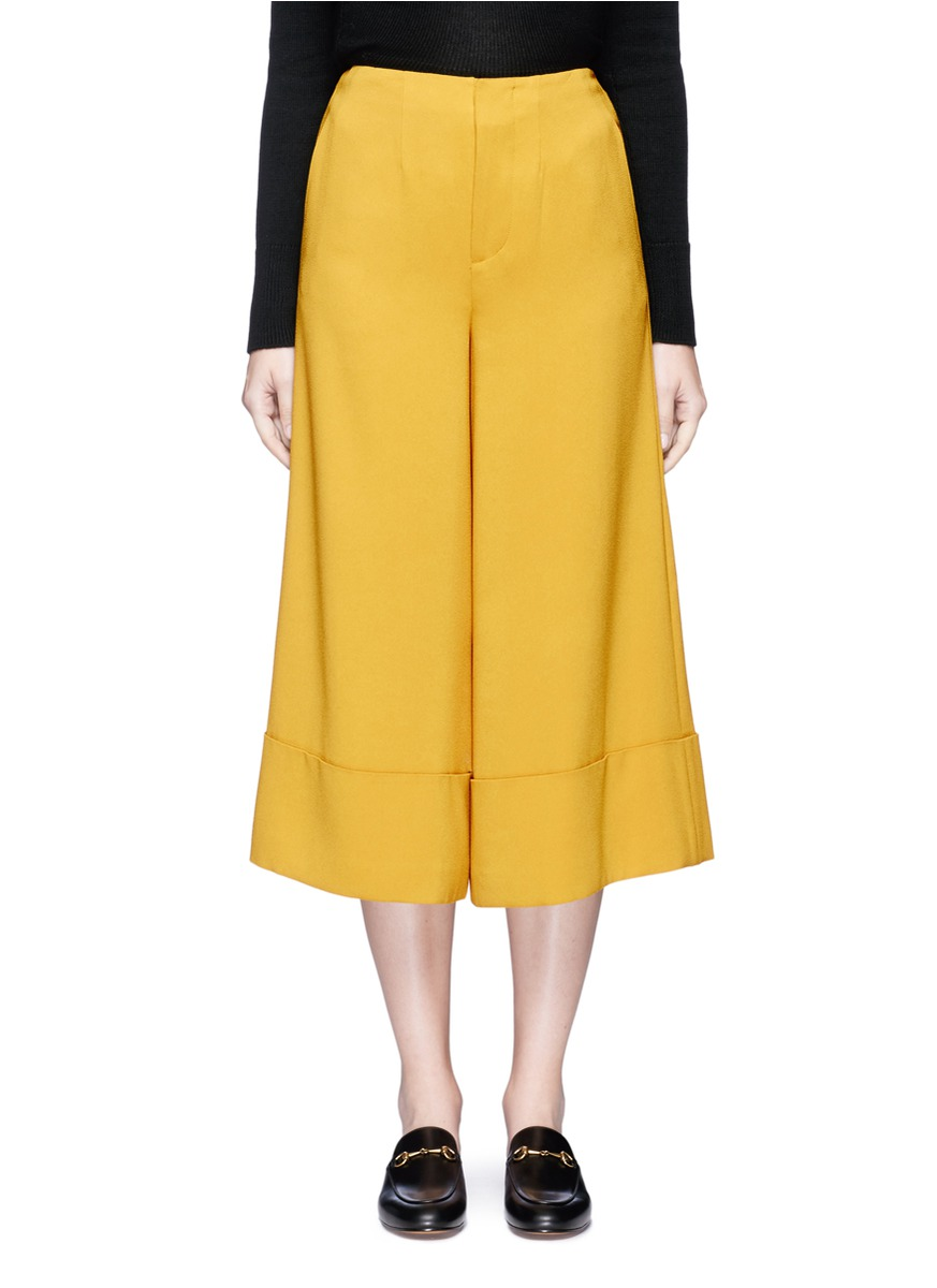 Crepe cropped wide leg pants by Co