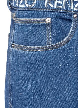 Detail View - Click To Enlarge - KENZO - Logo print waist boyfriend jeans