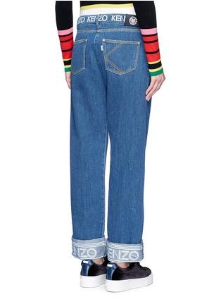 Back View - Click To Enlarge - KENZO - Logo print waist boyfriend jeans