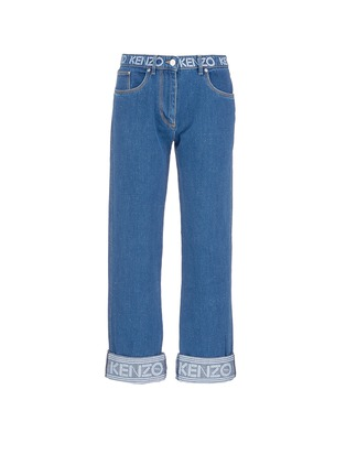 Main View - Click To Enlarge - KENZO - Logo print waist boyfriend jeans